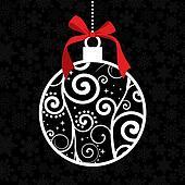 Elegant Christmas hang bauble