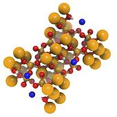 Actinolite asbestos, crystal structure