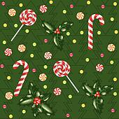 candies, lollipops and holly berry