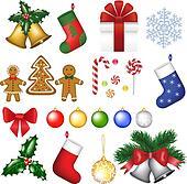 Christmas decoration set.