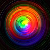background of colored concentric circles