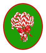 Bundle of Candy Canes w/Red Ribbon