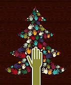 Diversity Christmas Tree hands