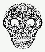 Decorative skull ornament