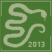 Embroidery 2013 new year snake
