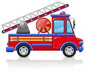 fire truck  illustration