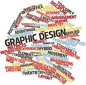 Word cloud for Graphic design