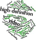 Word cloud for High-definition video