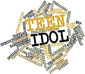 Word cloud for Teen idol