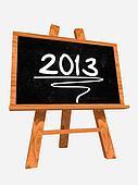 year 2013 on blackboard