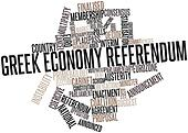 Word cloud for Greek economy referendum