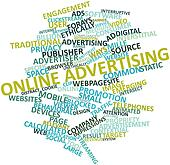 Word cloud for Online advertising