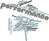 Word cloud for Performance art