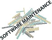 Word cloud for Software maintenance