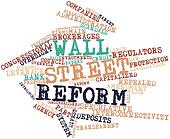 Word cloud for Wall Street reform