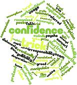 Word cloud for Confidence trick