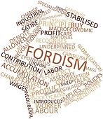 Word cloud for Fordism
