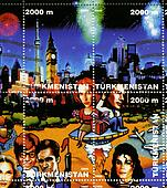 TURKMENISTAN - CIRCA 2000: stamp printed in Turkmenistan shows a