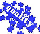 Quality Puzzle Showing Excellence And Premium Products