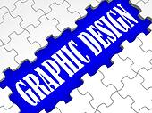 Graphic Design Puzzle Shows Digital Creativity