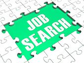 Jigsaw Puzzle Shows Job Search