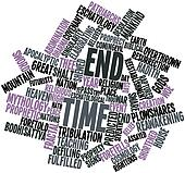 Word cloud for End time