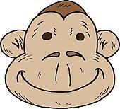Cartoon monkey face