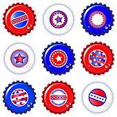 Stars & Stripes bottle caps