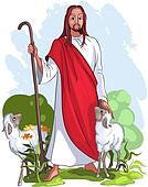 Jesus is a good shepherd