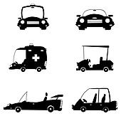 Black Cars-Vector Collection