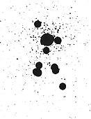 Spray paint ink blob