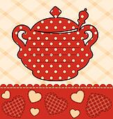vintage ceramic tea pot