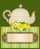 tea pot with beautiful flowers