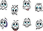 Comics faces set