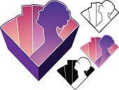 Deco lady emblem