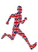 Runner jigsaw for 2012 UK olympics,vector file