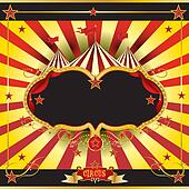 Red and yellow circus leaflet