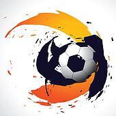 vector abstract football