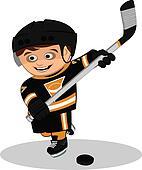 Cartoon ice-hockey player