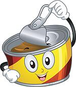 Canned Foods Clip Art - Royalty Free - GoGraph