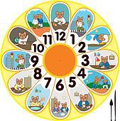 Clock Cat Schoolchild