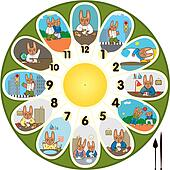 Clock Rabbit Schoolchild