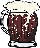 a mug of dark beer