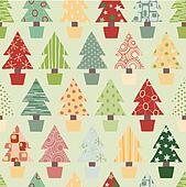 Festive Christmas Tree Background