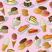Seamless Sweets Pattern