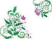 Decorative flower background
