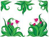 Ddecorative tulips background