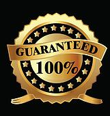 Gold label 100  guaranteed vector