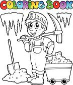 Coloring book with miner