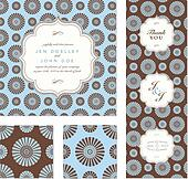 Vector Daisy Pattern and Frame Set